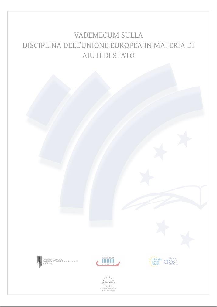 Vademecum sulla disciplina dell'Unione europea in materia di aiuti di Stato